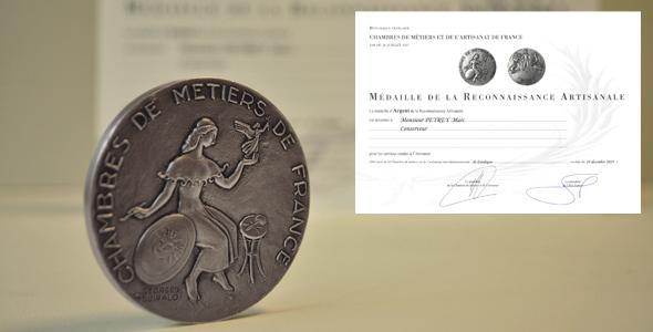 Médaille d'Argent de la Reconnaissance Artisanale de France